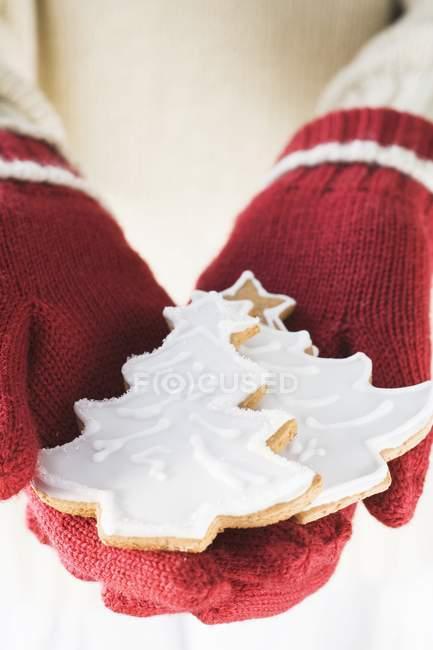 Женские руки холдинг печенье — стоковое фото