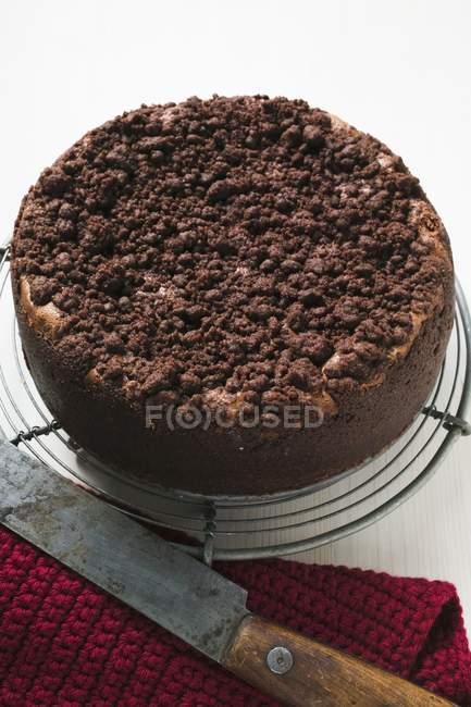 Чизкейк Шоколад покрошить — стоковое фото