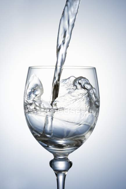 Pouring clear water — Stock Photo