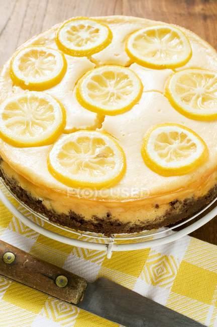 Tarta de limón casera - foto de stock