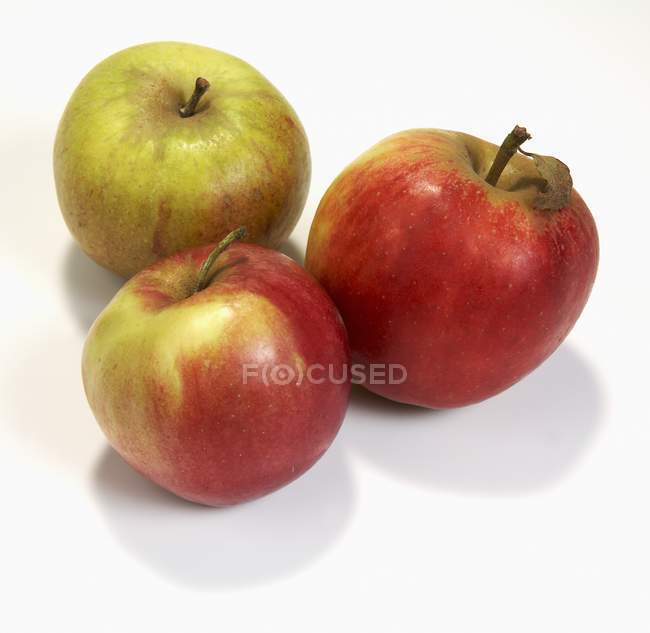 Three fresh ripe apples — Stock Photo
