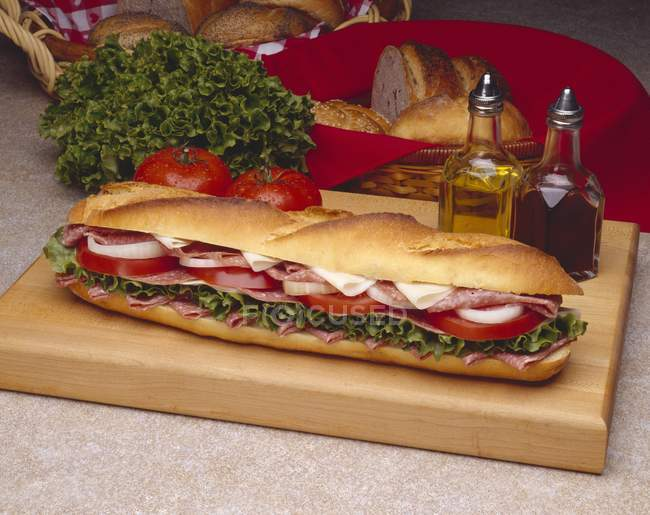 Sandwich sous-marin Provolone — Photo de stock
