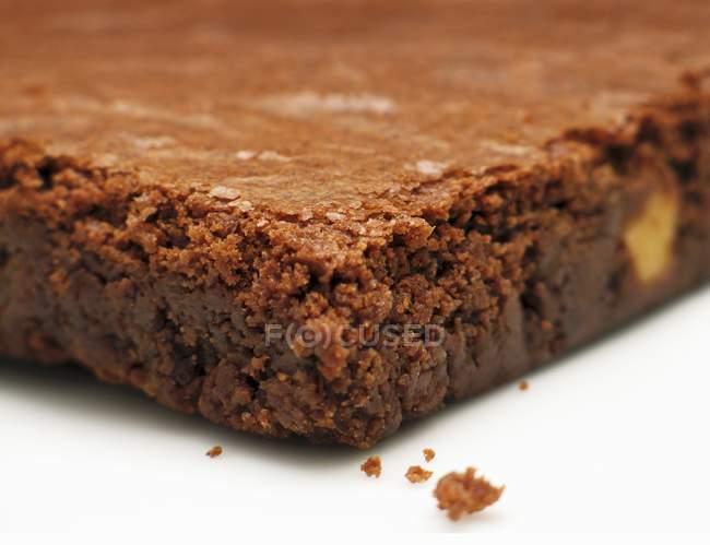 Servire fresco brownie al forno — Foto stock