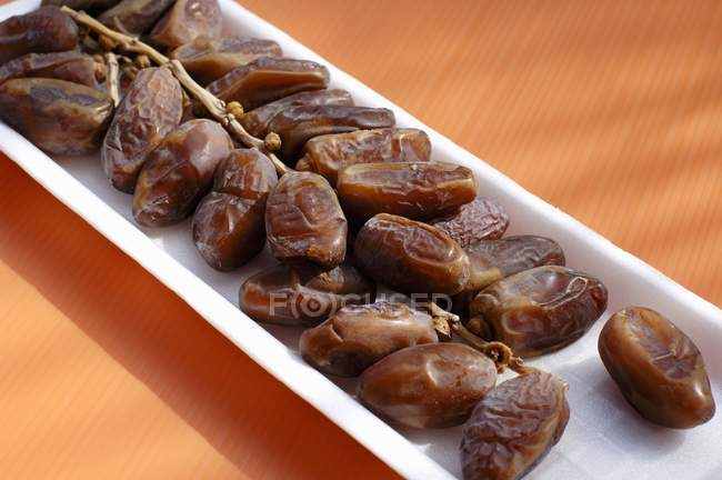 Dried bunch of dates — Stock Photo