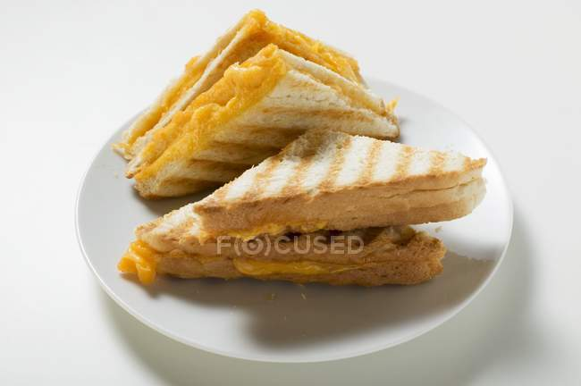 Toasted cheese sandwiches — Stock Photo