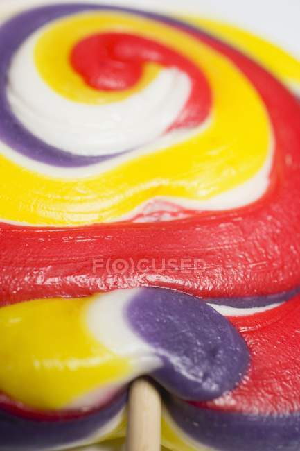 Coloured lollipop, close-up — Stock Photo