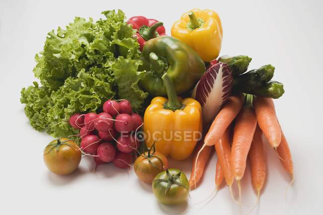 Vegetable still-life with lettuce — Stock Photo