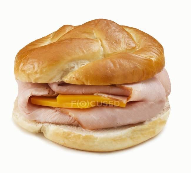 Розміщенні одної сендвіч — стокове фото