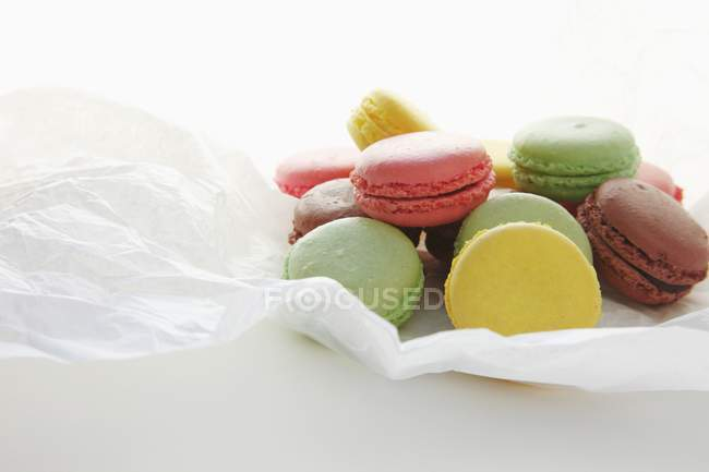 Heap of colourful Macarons — Stock Photo
