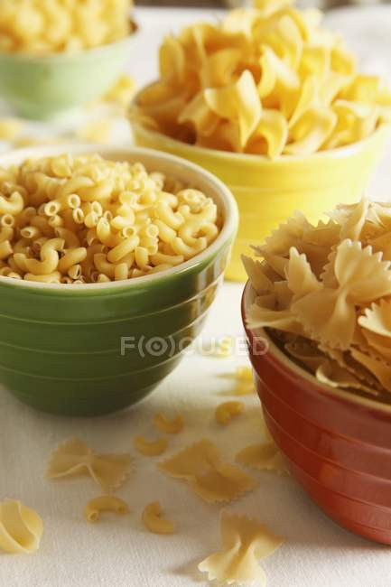 Various types of dried pasta — Stock Photo
