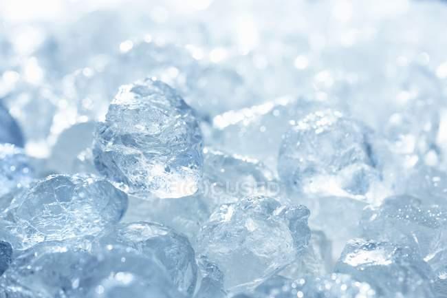 Deep Frozen Ice Cubes Stock Photo