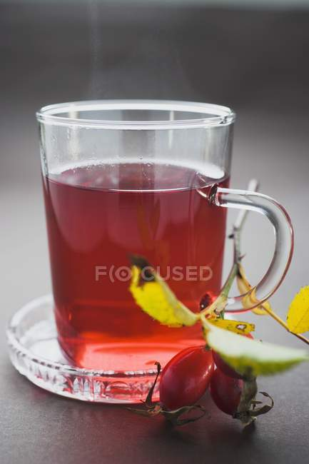 Rose hip tea in cup — Stock Photo