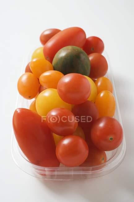 Varios tipos de tomates - foto de stock