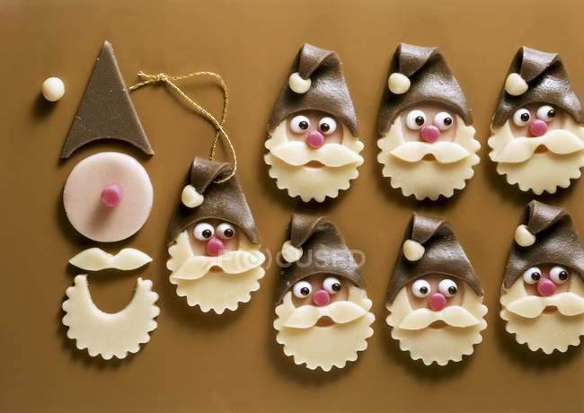Marzipan Дед Мороз лица — стоковое фото