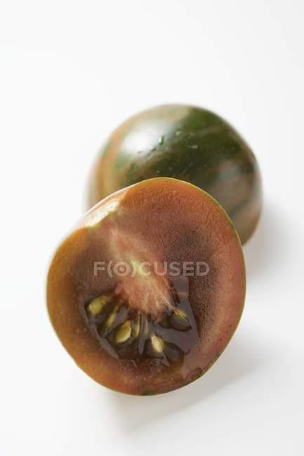 Зелені помідори смугастий — стокове фото