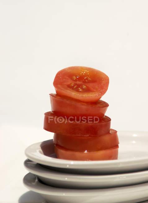 Pile de tranches de tomate — Photo de stock
