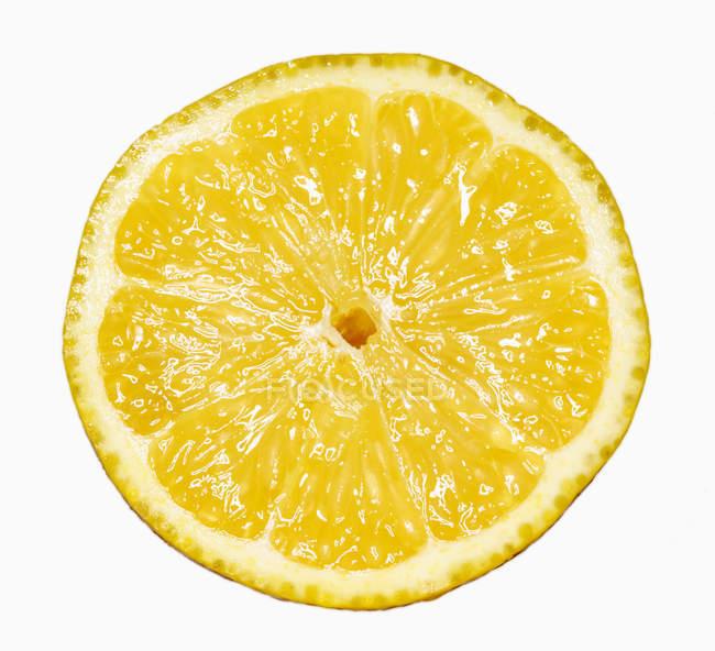 Eine halbe Zitrone gelb — Stockfoto