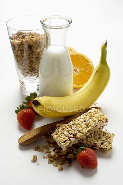 Gesunde Ernährung mit Müsli — Stockfoto