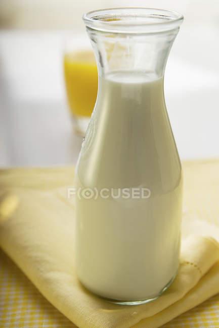 Karaffe mit frischer Milch — Stockfoto