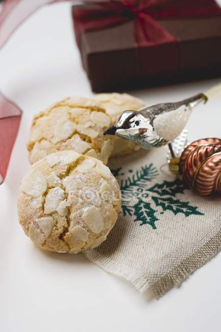 Biscuits aux amandes italiennes — Photo de stock