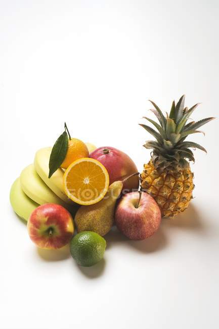 Assortment of fresh fruits — Stock Photo