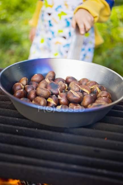 Marrons rôtis, gros plan — Photo de stock