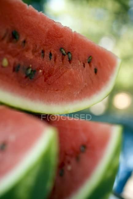 Fatias suculentas de melancia — Fotografia de Stock