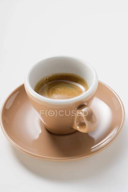 Cup of espresso with crema — Stock Photo
