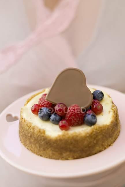 Міні-чізкейк з змішану ягоди — стокове фото