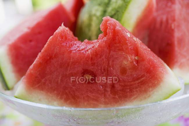 Cunhas de melancia madura fresca — Fotografia de Stock