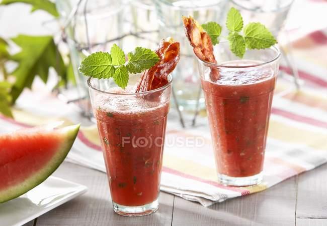 Würzige Wassermelone cocktails — Stockfoto