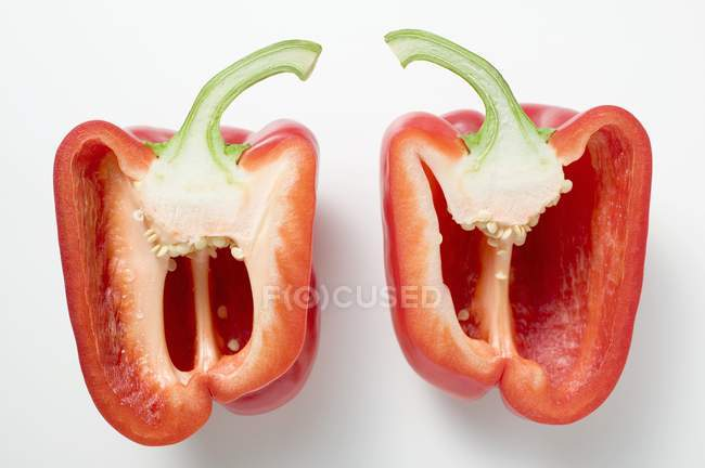 Sliced red peppers — Stock Photo