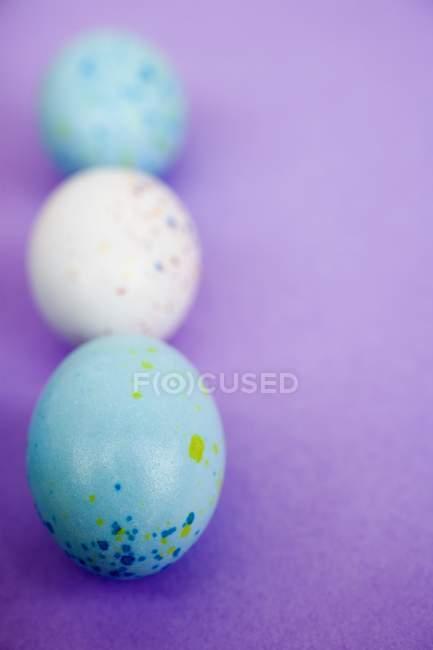 Salpicado de ovos de Páscoa — Fotografia de Stock
