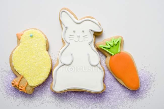 Три различных печенье Пасха — стоковое фото