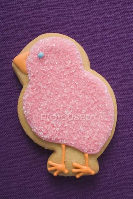 Бісквіт у вигляді рожевий Чик — стокове фото