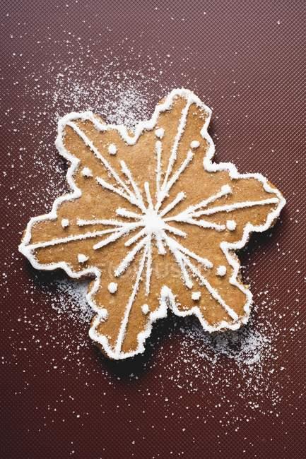 Biscuit de Noël flocon de neige — Photo de stock