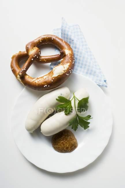 Weisswurst білий ковбас — стокове фото