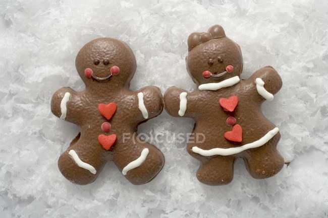 Chocolate gingerbread people — Stock Photo