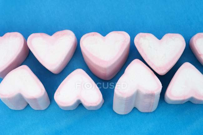 Marshmallow branco e rosa — Fotografia de Stock