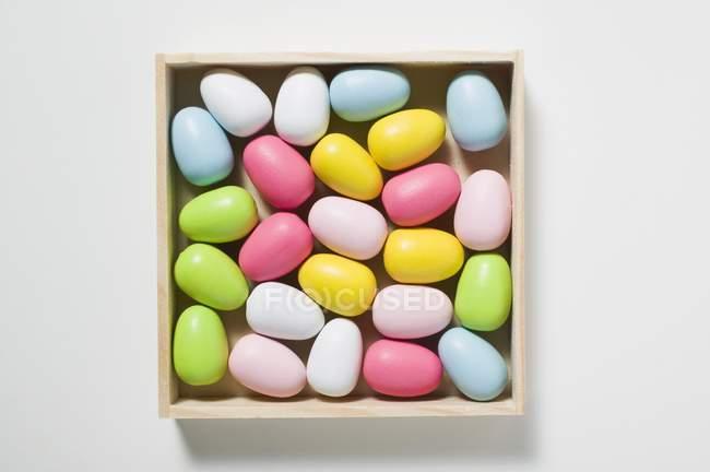 Ovos de açúcar na caixa — Fotografia de Stock