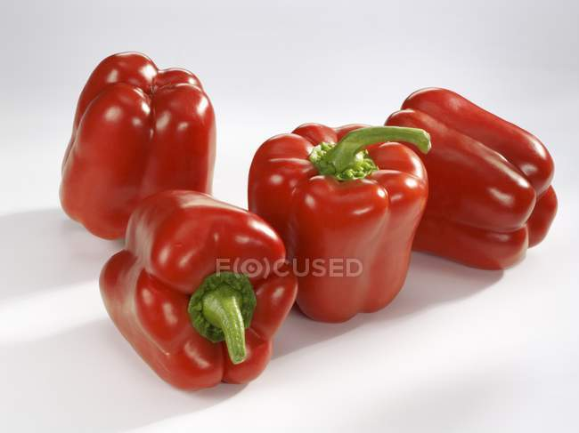 Ripe red bell peppers — Stock Photo