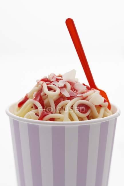 Crème glacée Spaghetti — Photo de stock