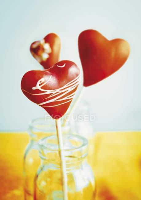 Herzförmige Cake Pops — Stockfoto
