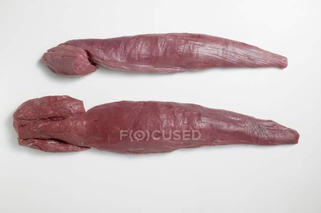Rohes Rindfleisch und Kalbfleisch Filets — Stockfoto