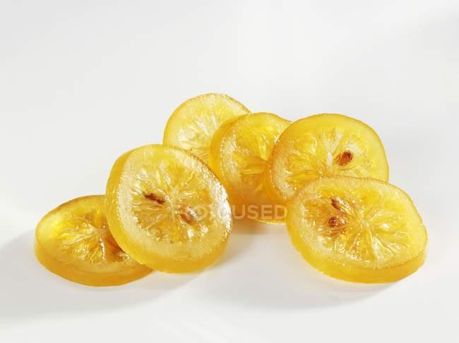 Kandierte Zitronenscheiben — Stockfoto