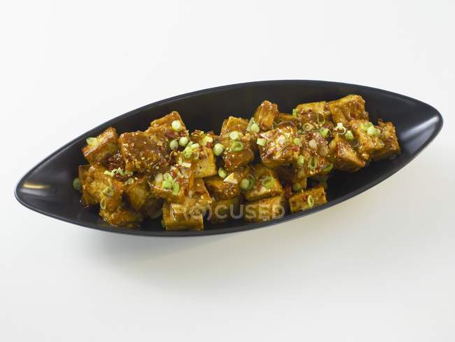 Chinese spicy tofu dish — Stock Photo