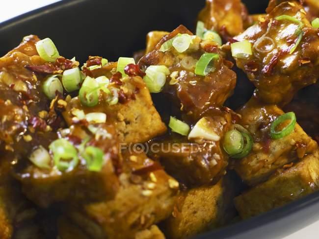 Китайський пряні тофу блюдо — стокове фото
