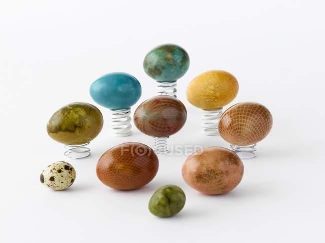 Huevos de Pascua decorados - foto de stock