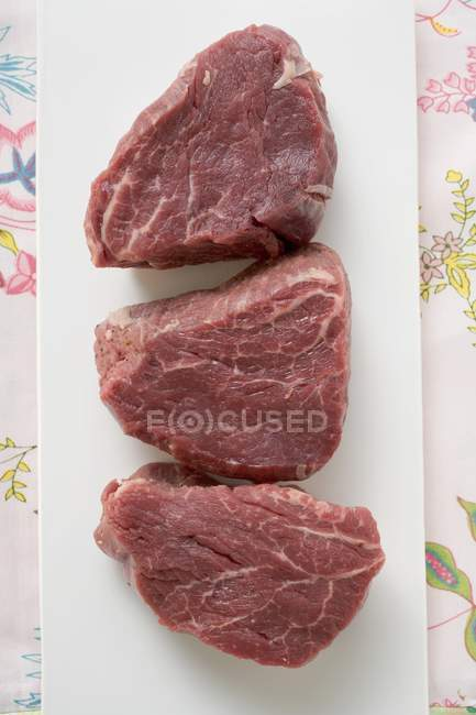 Slices of beef fillet — Stock Photo