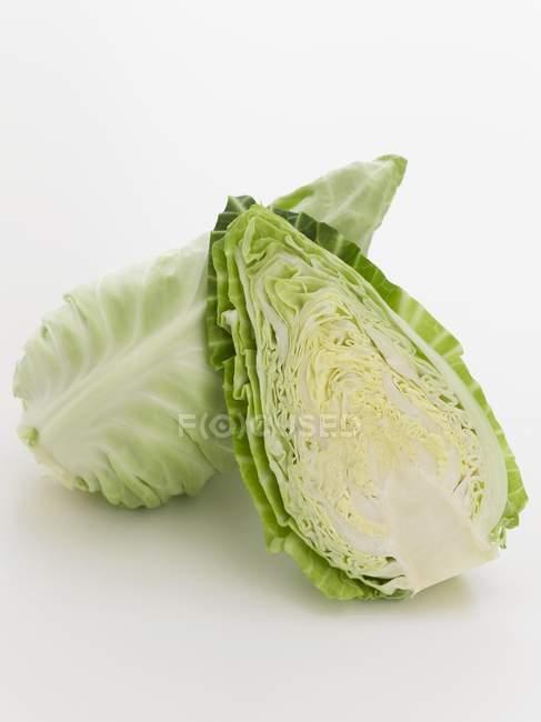 Зеленый указал капусты — стоковое фото